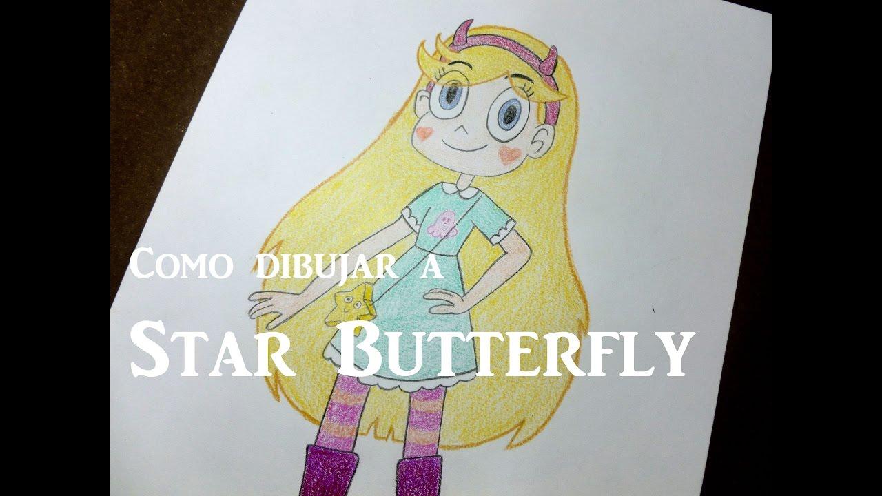 Star Contra Las Fuerzas Del Mal Dibujos: Como Dibujar/pintar A Star Butterfly