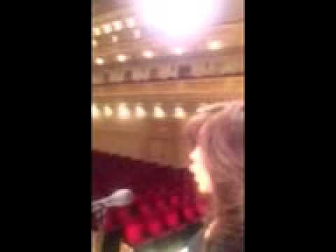 Carnegie Hall - Listen to the acoustics!