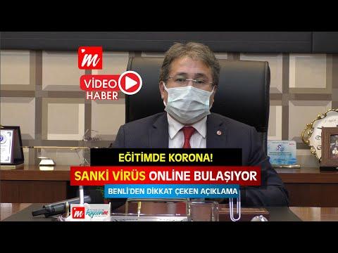 """""""SANKİ VİRÜS ONLİNE BULAŞIYOR""""  İl Sağlık Müdürü Ali Ramazan Benli'den Uzaktan Eğitim Açıklaması"""
