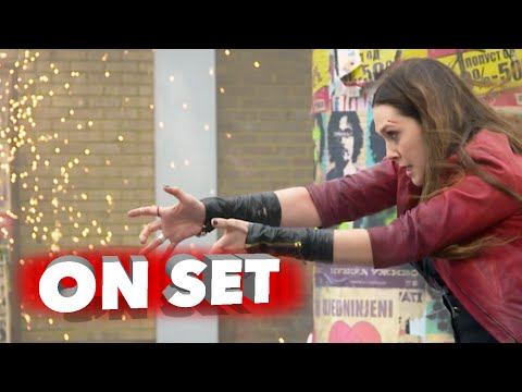 "Marvel's Avengers: Age of Ultron: Elizabeth Olsen ""Scarlet Witch"" Behind the Scenes Movie Broll"