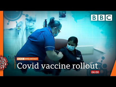 'V-day' as first people due to get Covid jab 🔴 @BBC News live - BBC