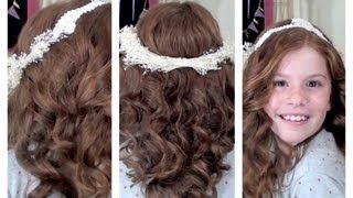 Flower Girl Hair and DIY Flower Crown – Flor menina do cabelo e DIY flor da coroa
