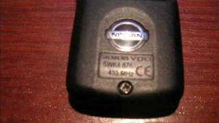 problem transponder chip nissan remote key fob 2 button type 5wk4 876 siemens vdo 433 mhz