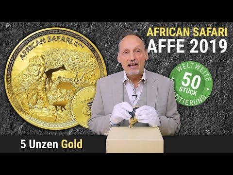 5 UNZEN GOLD   AFRICAN SAFARI AFFE 2019   NUR 50 Stück