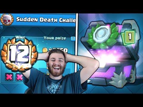 12 WINS AGAIN & NEW LEGENDARY PULL TOO!   Clash Royale   BEST SUDDEN DEATH DECKS!