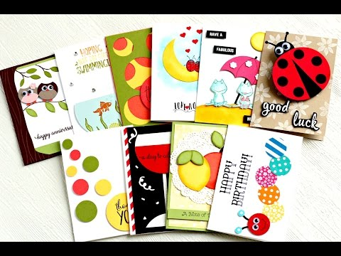 10 card ideas using circle dies and punches by Stampin' Up!
