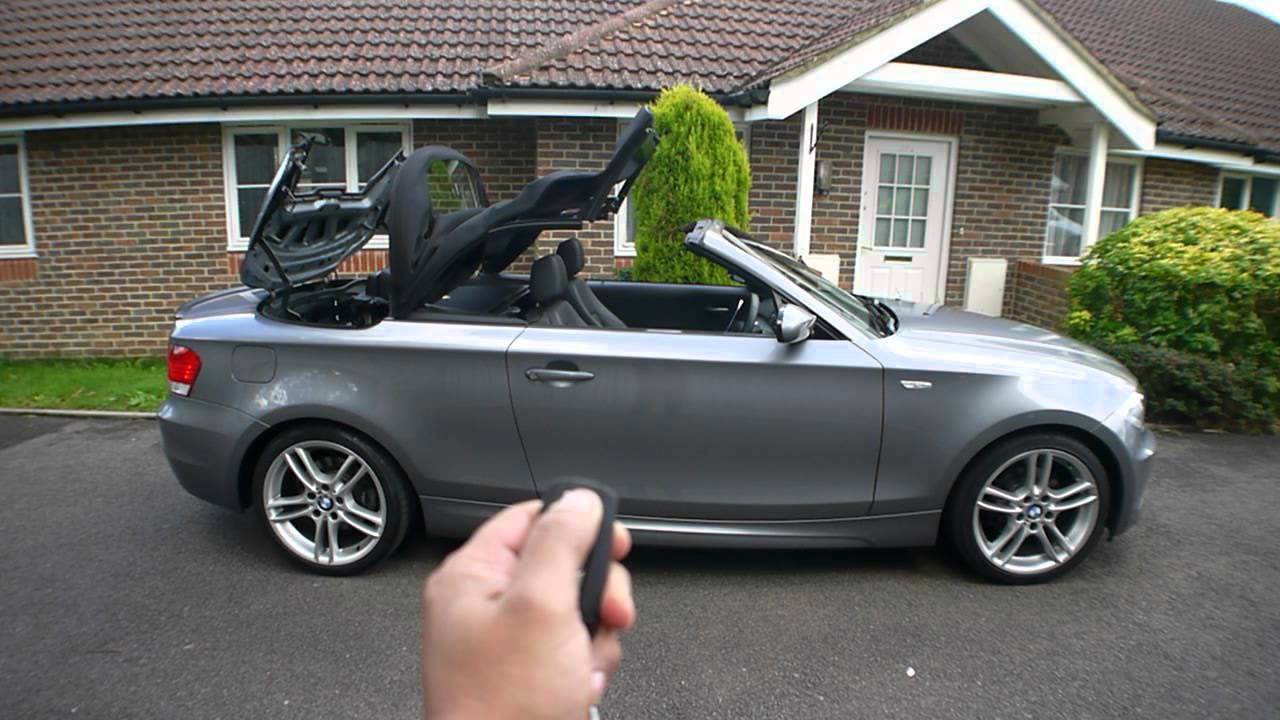 bmw 120d m sport convertible open the top youtube. Black Bedroom Furniture Sets. Home Design Ideas