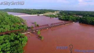 Red River Bridge I-35 June Flood 2015
