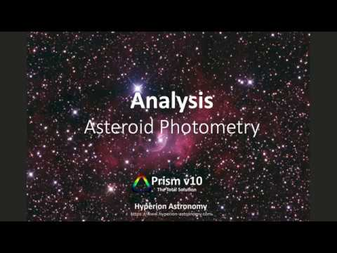 Analysis - Asteroid Photometry