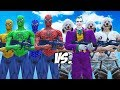 SPIDER-MAN, GREEN SPIDERMAN, BLUE SPIDERMAN, YELLOW SPIDERMAN VS JOKER & JOKER THUGS