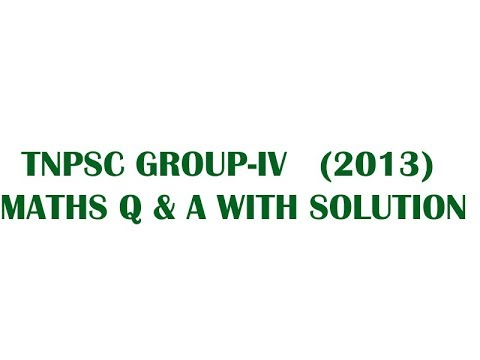 Tnpsc Group 4 Answer Key 2013 Pdf