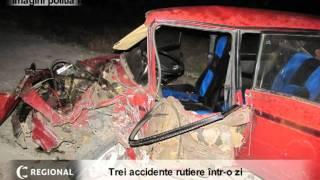 Trei accidente rutiere într-o zi