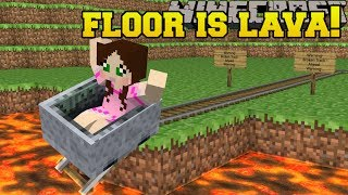Minecraft EXTREME THE FLOOR IS LAVA TRAPS, MOBS, EXPLOSIONS Mini Game