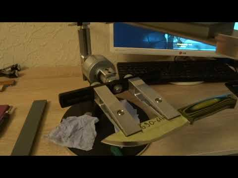 Заточка ножа на Профиль К 03 Венёвскими алмазами, смотрим что у нас с РК.