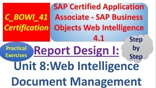BusinessObjects Report Design I :Unit 8 :Practical examples : Document Management