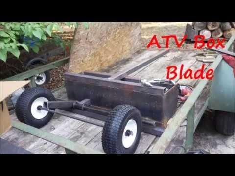 DIY ATV Box Blade In Action