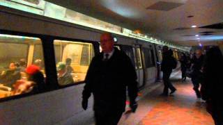 DC Metro (WMATA): Wiehle Reston bound Silver Line train at Federal Triangle