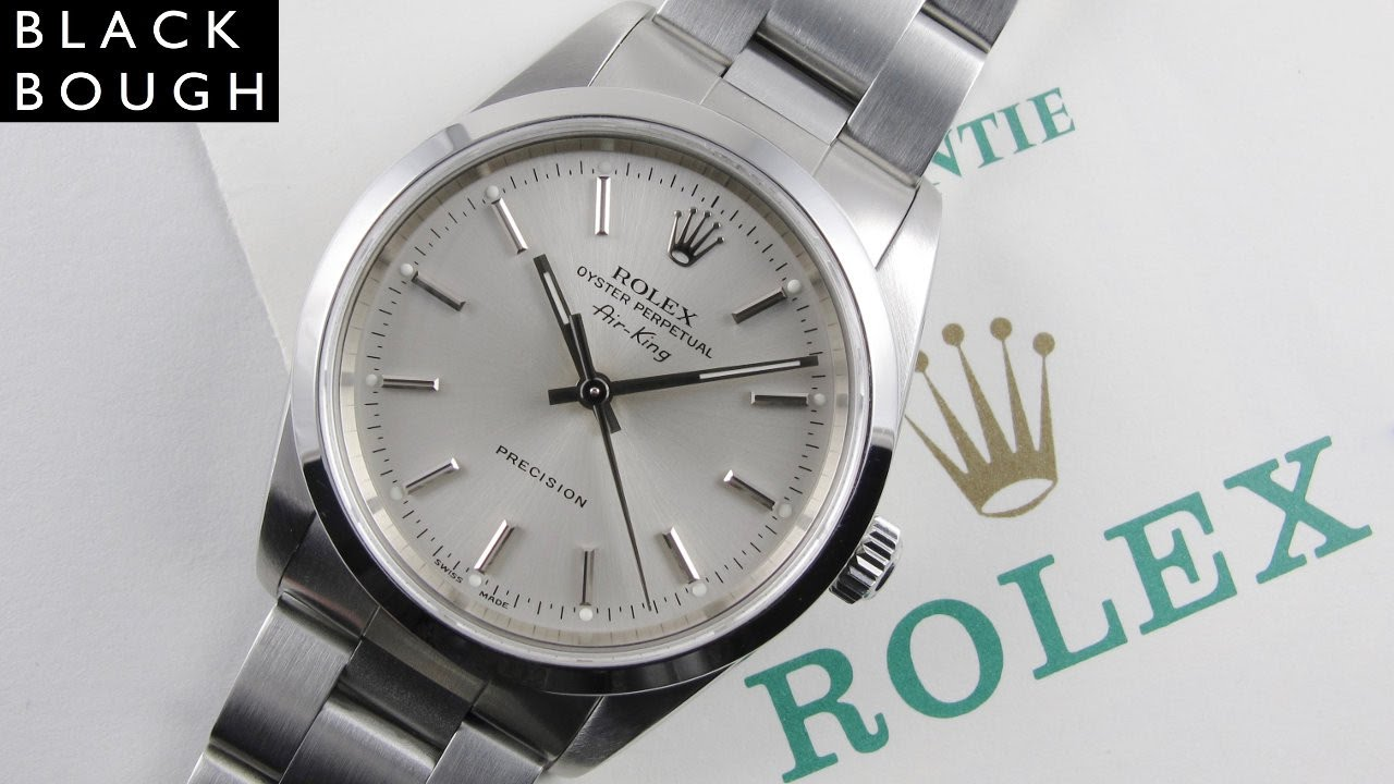 Rolex Oyster Perpetual Air King Precision Ref 14000m Full Set Steel Wristwatch Sold In 2002