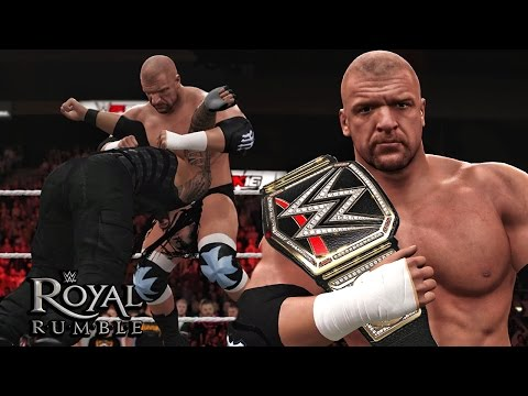 WWE Royal Rumble 2016 - Triple H Returns &  Wins The WWE Title - Royal Rumble 2016