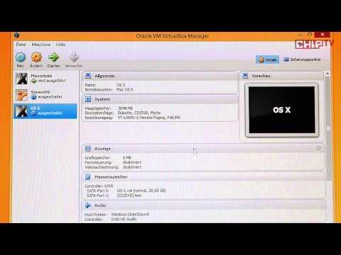 Apple OS X in VirtualBox unter Windows - Workshop deutsch Anleitung { CHIP