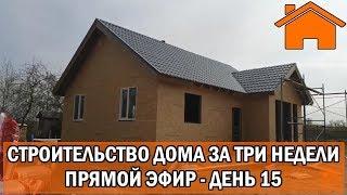 Строительство дома за 3 недели, прямой эфир. День 15-ый.