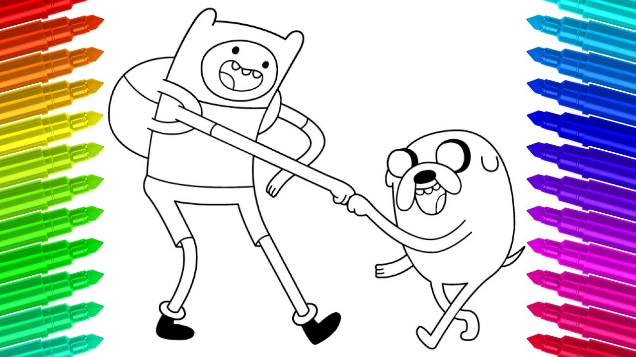 Paint Finn And Jake Adventure Time Colouring Pages Activities for ...