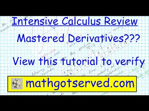 Chapter 3 Test Review Differentiation AP Calculus AB BC IB Exam calculus I