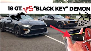 Dodge DEMON Destroyed BY MUSTANG GT in 1/4 Mile! (Full Results with 808HP too)