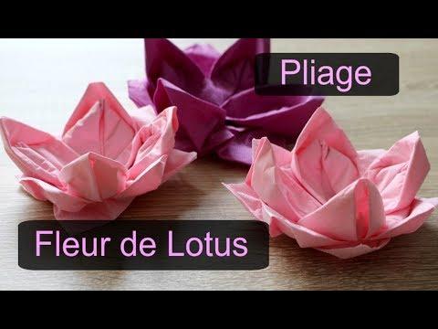 Comment faire un pliage serviette en forme de Fleur de Lotus ?