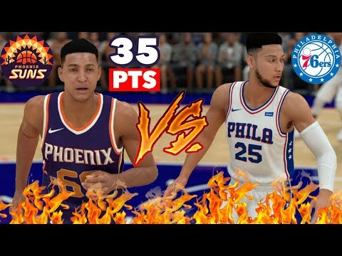 """Crazy 5'7"""" NBA 2K19 MyCareer Ep 2 - I Score 35pts on Ben Simmons and the 76ers"""