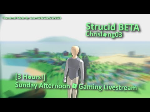 Strucid [3 Hours!] Sunday Afternoon Gaming Live Stream!
