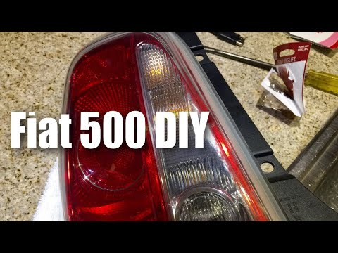 how to change the brake light bulb in the fiat 500