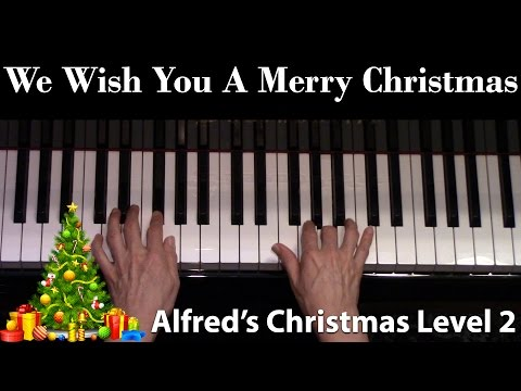 We Wish You A Merry Christmas, 1984 Version, Level 2 (Elementary Piano Solo)