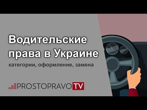 Водительские права 2019 в Украине: категории, оформление, замена