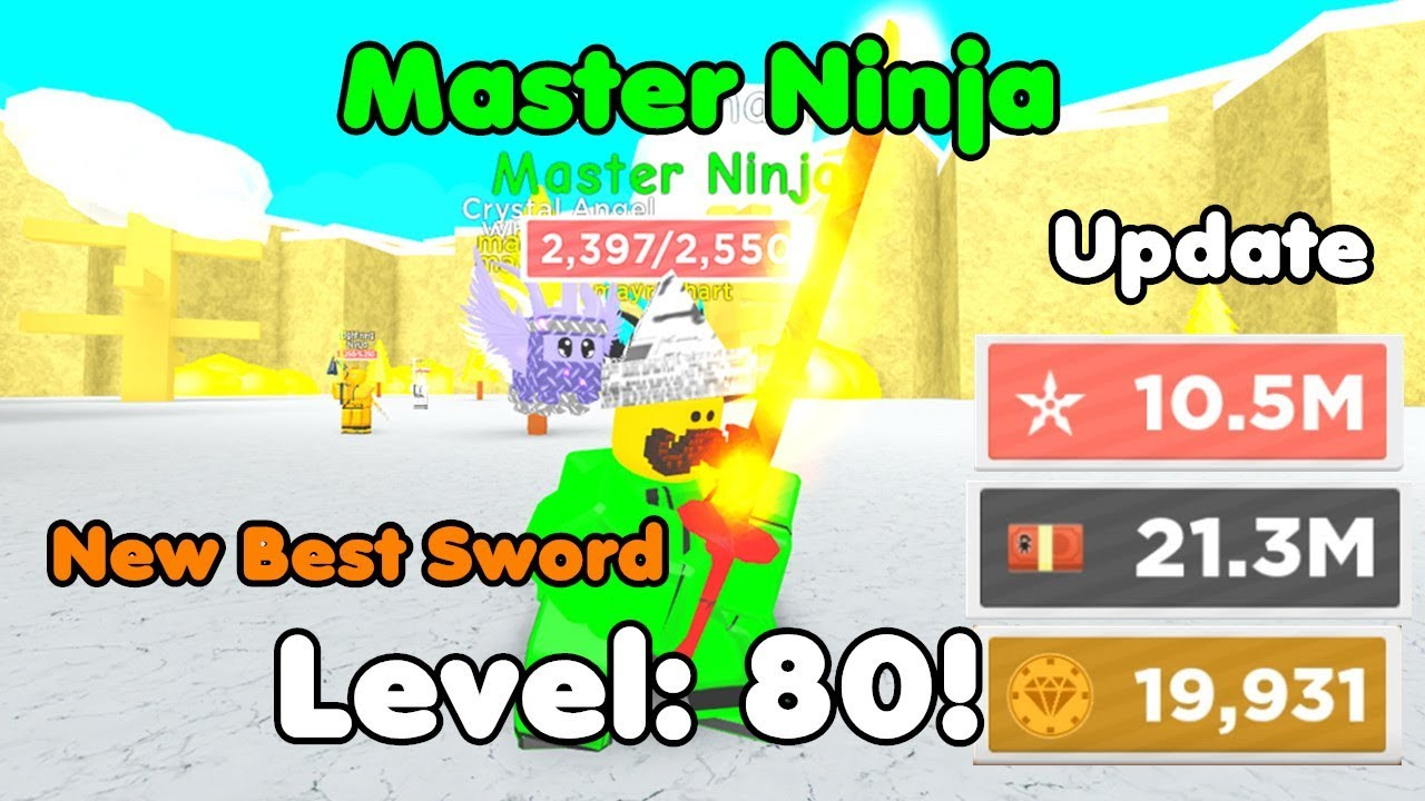 Update! Got New Best Sword! Level 80! Became Master Ninja! New Best Pets - Ninja Masters