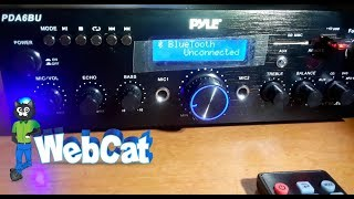 PYLE PDA6BU Bluetooth Stereo Amplifier In Depth Look