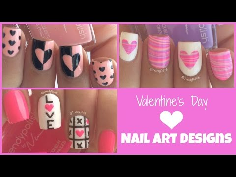 Three Valentine's Day Nail Art Designs!