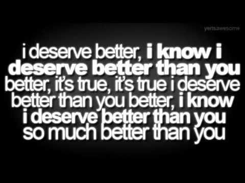 I deserve better - Claude lyrics on screen