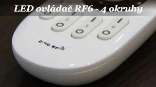LED diaľkový ovládač LDPT RF6 - 4 okruhy
