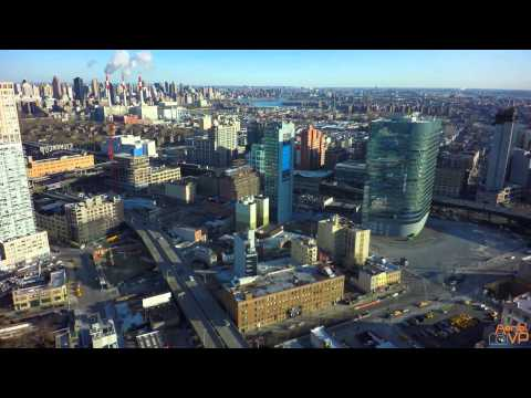 Drone View of Long Island City 4K