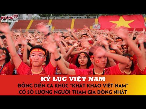 """VIETKINGS: Kỷ lục Việt Nam - Đồng diễn ca khúc """"Khát khao Việt Nam"""" có số người tham gia đông nhất"""