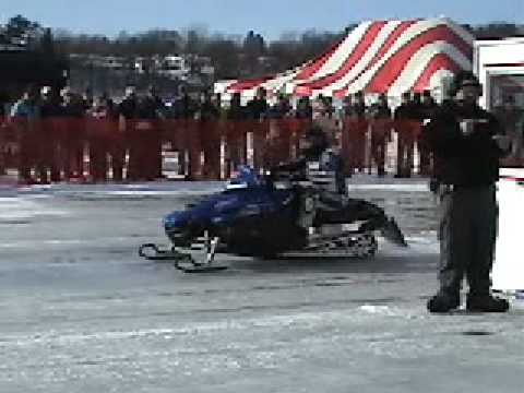 550HP Turbo Snowmobile Sets World Record 163 MPH in 1000ft