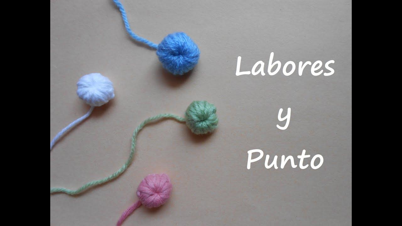 Aprende a tejer un boton de lana a ganchillo o crochet - Como se hace ganchillo ...