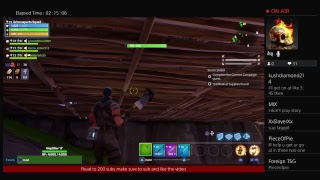 Playing fortnite campaign grinding fo vbucks(ROAD TO 200 SUBSCRIBERS Plz sub)