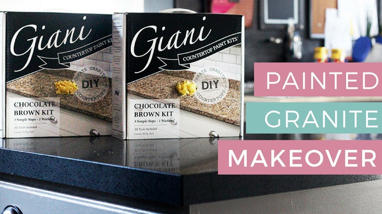 Kitchen Countertop Makeover With Giani Granite Kenya Rae YouTube - Kitchen countertop paint kits
