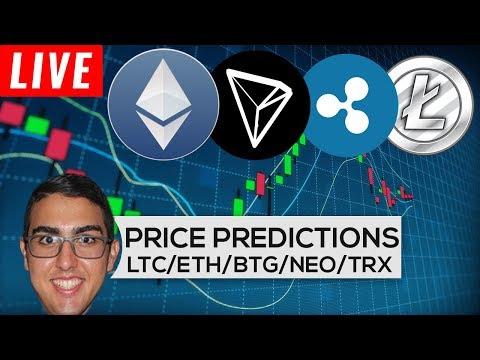 Price Predictions: Litecoin ($LTC), Ethereum ($ETH), Bitcoin Gold ($BTG), NEO ($NEO), & Tron ($TRX)
