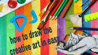 How to draw the creative art Ni easy