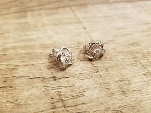 """NINASUN """"Silk of Love"""" 925 Sterling Silver Stud Earrings"""