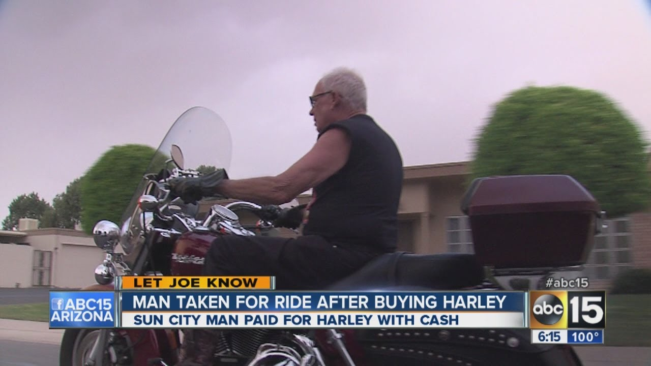 Man taken for ride after buying Harley.