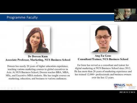 NUS Business School | Digital Marketing: Strategies, Models and Frameworks | Webinar